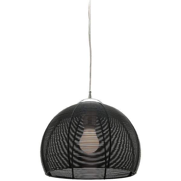 Arden 1 Bulb Pendant Light - Black - Industrial Lighting Studio