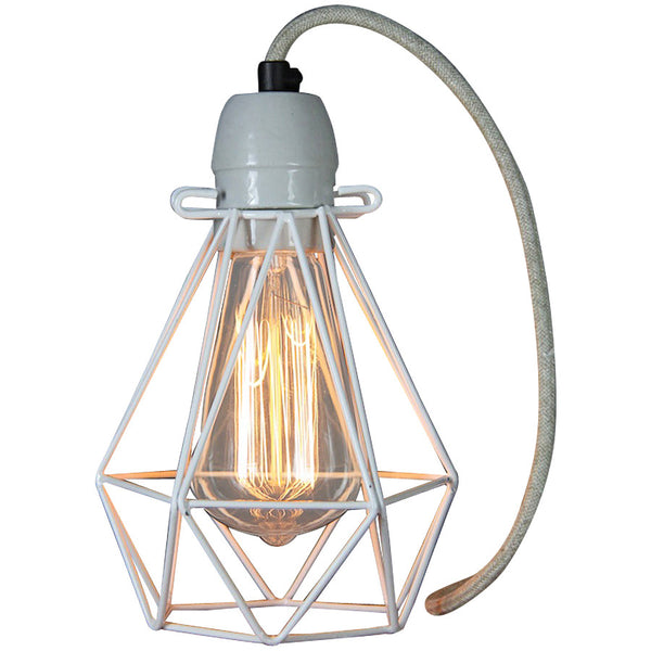 Diamond Pendant - Small - White - Industrial Lighting Studio