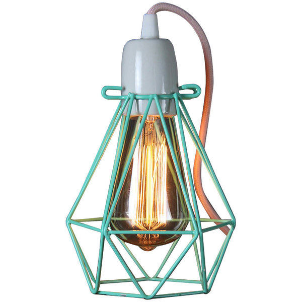 Diamond Pendant - Small - Peppermint - Industrial Lighting Studio - 1