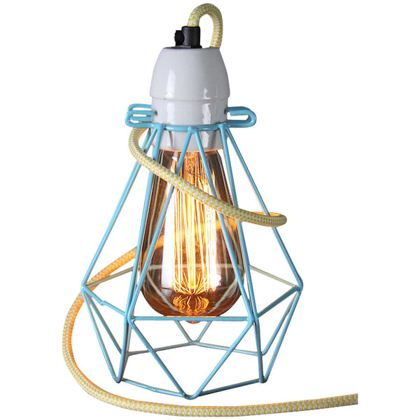 Diamond Pendant - Small - Blue - Industrial Lighting Studio - 5