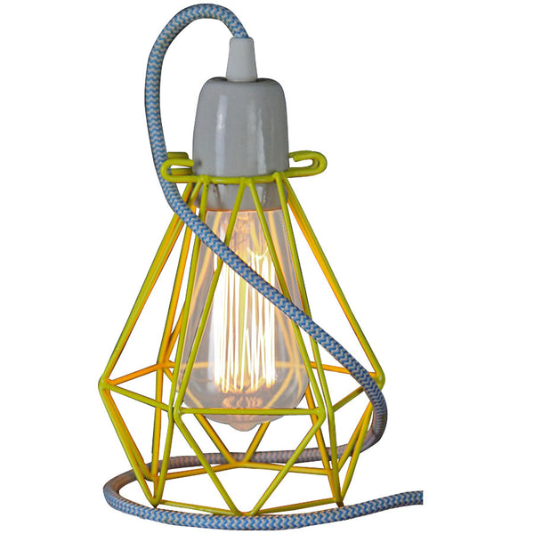 Diamond Pendant - Small - Yellow - Industrial Lighting Studio