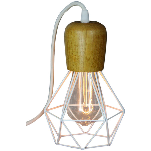 Woodsman Pendant - White - Industrial Lighting Studio