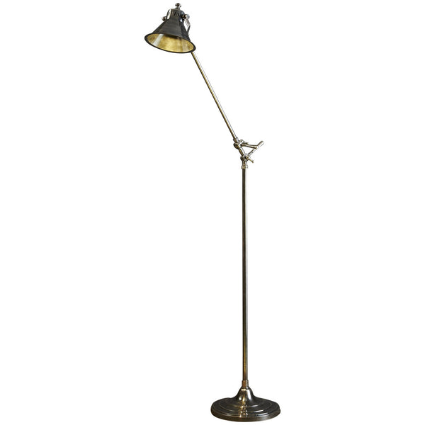 Morton Floor Lamp - Silver - Industrial Lighting Studio