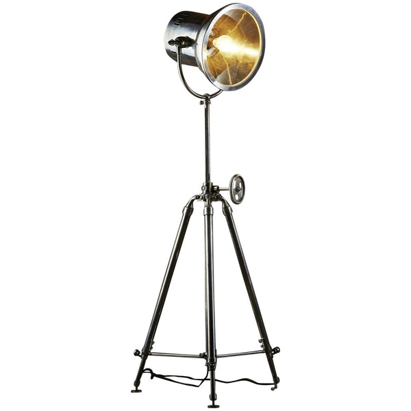 Solaris Floor Lamp - Antique Silver - Industrial Lighting Studio