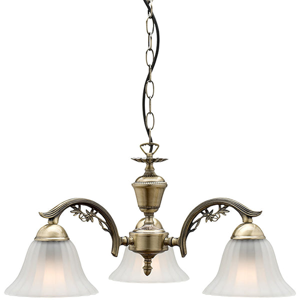 Edgewood 3 Lamp Antique Chandelier - Industrial Lighting Studio