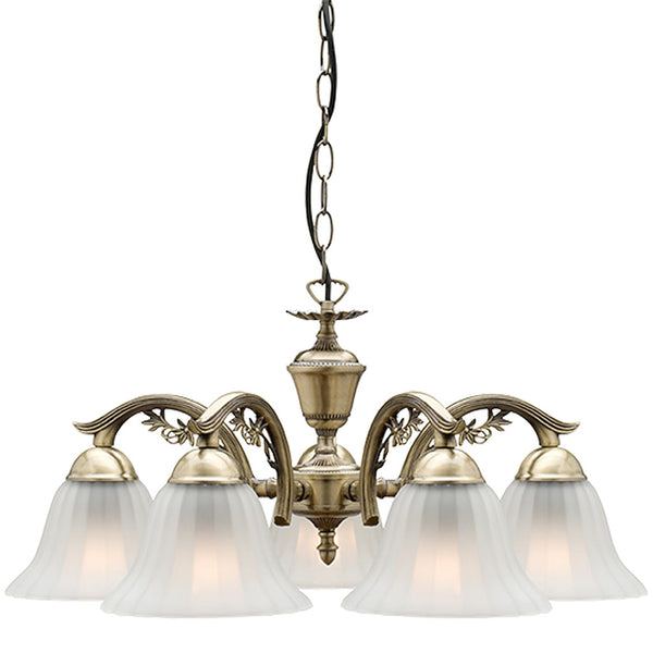 Edgewood 5 Lamp Antique Chandelier - Industrial Lighting Studio