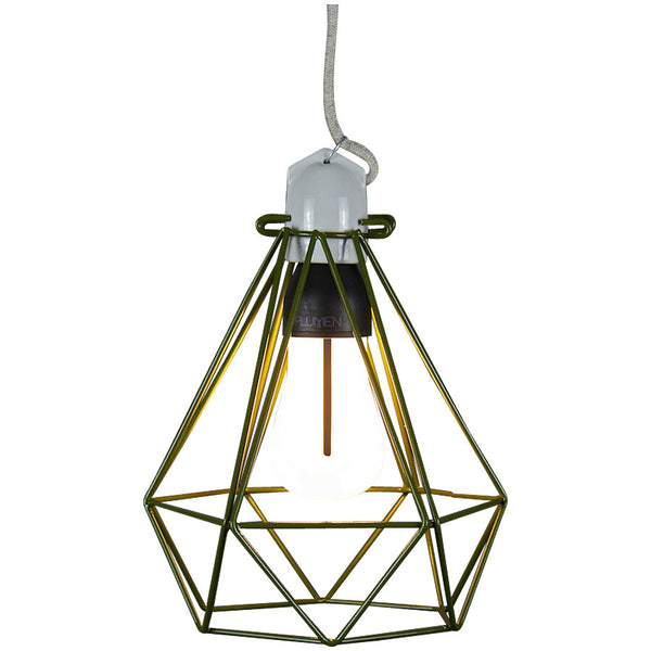 Diamond Pendant Modern Dandy - Quentin Crisp - Industrial Lighting Studio - 5