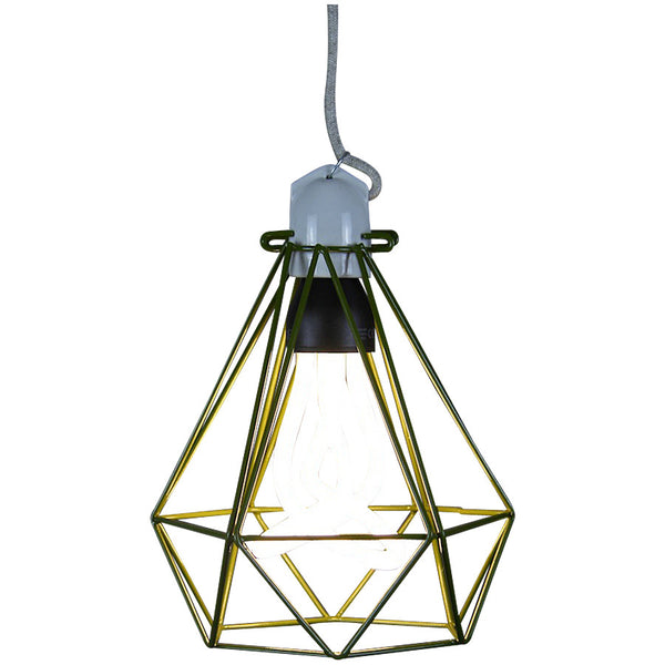 Diamond Pendant Modern Dandy - Quentin Crisp - Industrial Lighting Studio - 7
