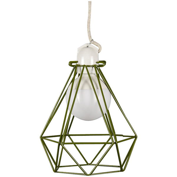 Diamond Pendant Modern Dandy - Quentin Crisp - Industrial Lighting Studio - 9