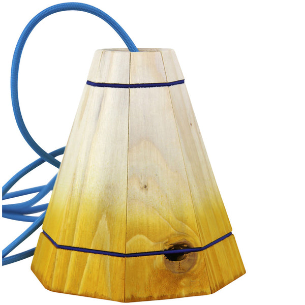 Pallet Pendant Light - Small - Yellow - Industrial Lighting Studio - 1