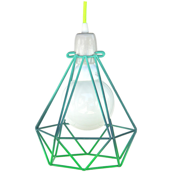 Diamond Pendant - Summer Series Green - Industrial Lighting Studio - 2