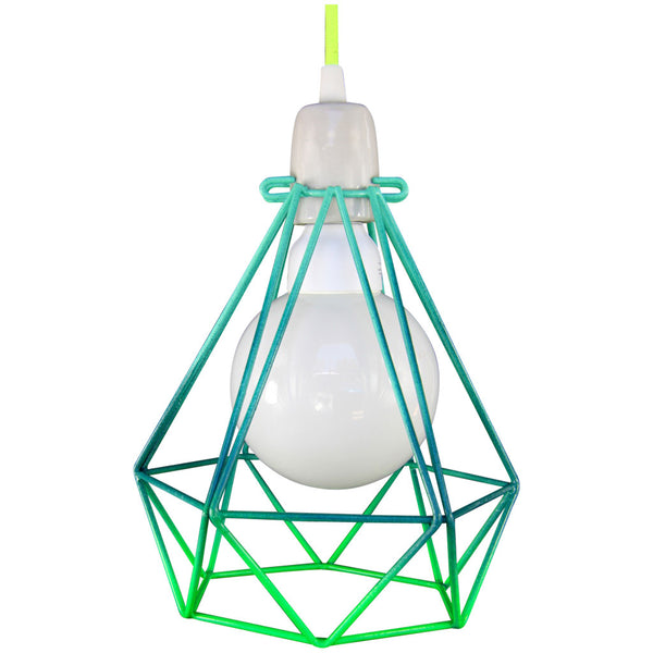 Diamond Pendant - Summer Series Green - Industrial Lighting Studio - 1