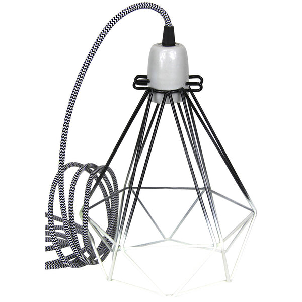 Diamond Pendant - Small - Black - Industrial Lighting Studio - 1