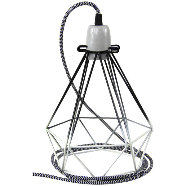 Diamond Pendant - Small - Black - Industrial Lighting Studio - 2