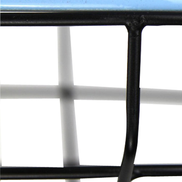 Cage Tennis Shade Pendant - Blue with Black - Industrial Lighting Studio - 5