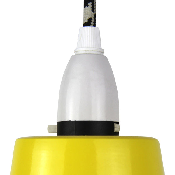 Cage Tennis Shade Pendant - Yellow with black - Industrial Lighting Studio - 2