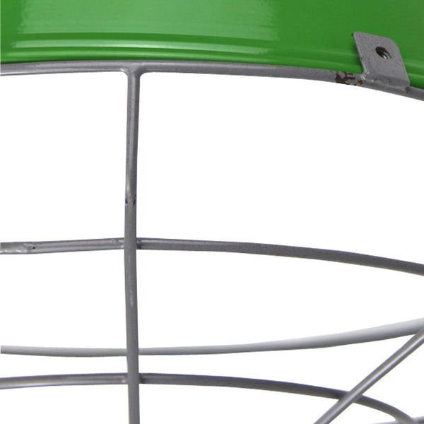 Cage Tennis Shade Pendant - Green with grey - Industrial Lighting Studio - 4