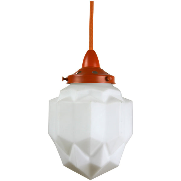 Art Deco Modern Pendant Light - Orange - Industrial Lighting Studio - 2