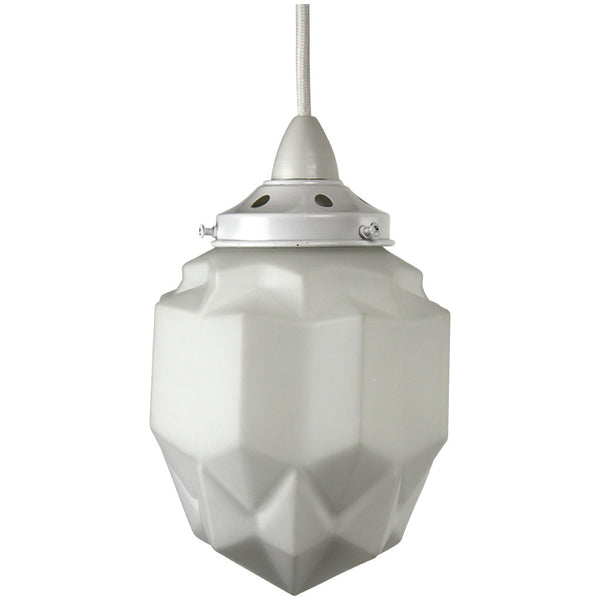 Art Deco Modern Pendant Light - White - Industrial Lighting Studio - 1