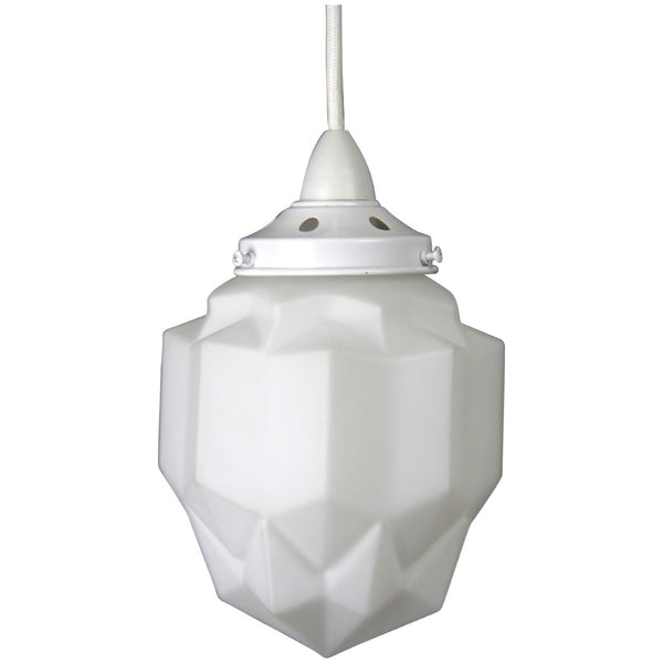 Art Deco Modern Pendant Light - White - Industrial Lighting Studio - 3