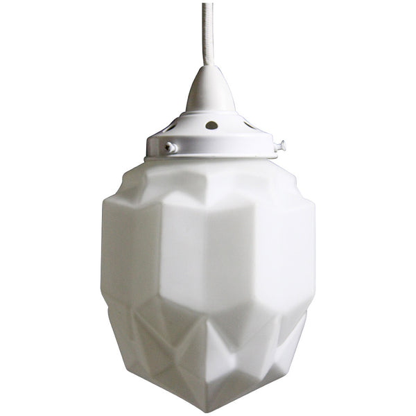 Art Deco Modern Pendant Light - White - Industrial Lighting Studio - 5