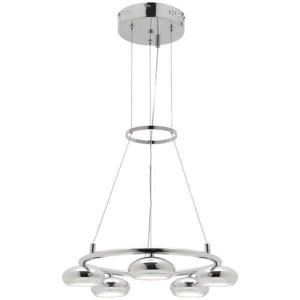Indy 5 Bulb Round Pendant Light - Industrial Lighting Studio