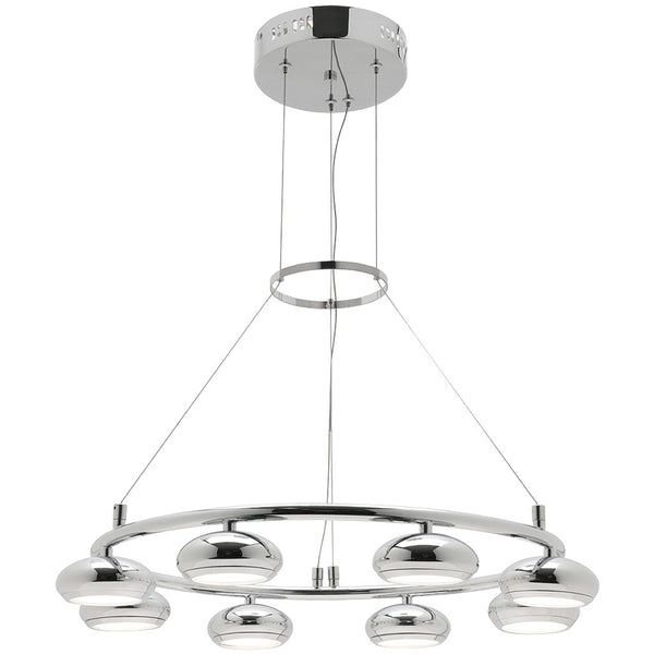 Indy 8 Bulb Round Pendant Light - Industrial Lighting Studio