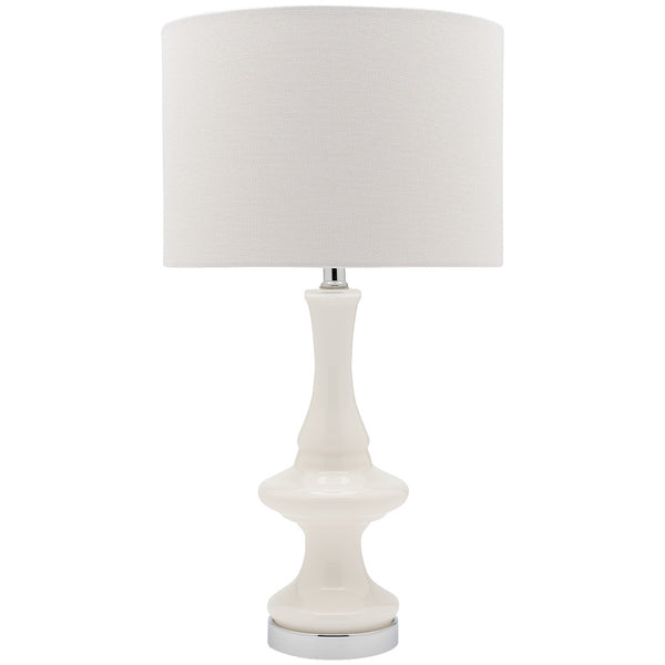 Laila Table Lamp - White - Industrial Lighting Studio