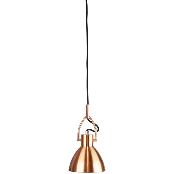 Industrial Brushed Copper Single Pendant Light - Small - Industrial Lighting Studio