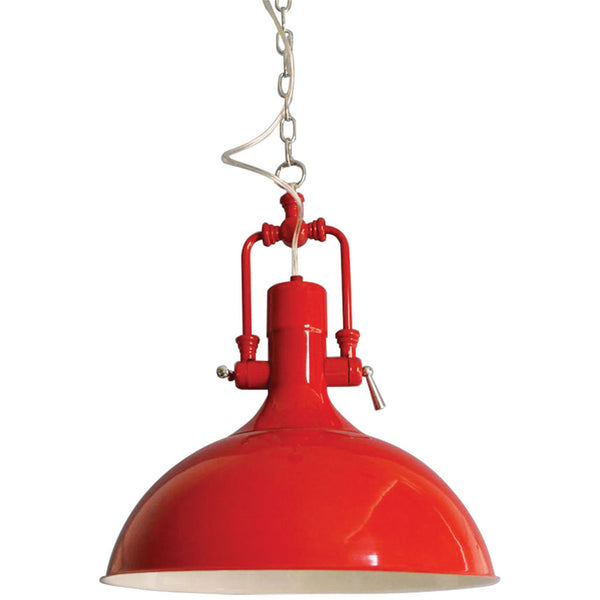 Cottage Pendant Lamp - Red - Industrial Lighting Studio