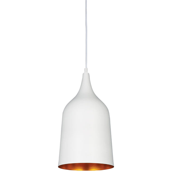 Poker Single Pendant Lamp - White - Industrial Lighting Studio