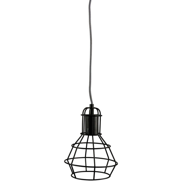 Single Cage Drop Pendant - Black - Industrial Lighting Studio