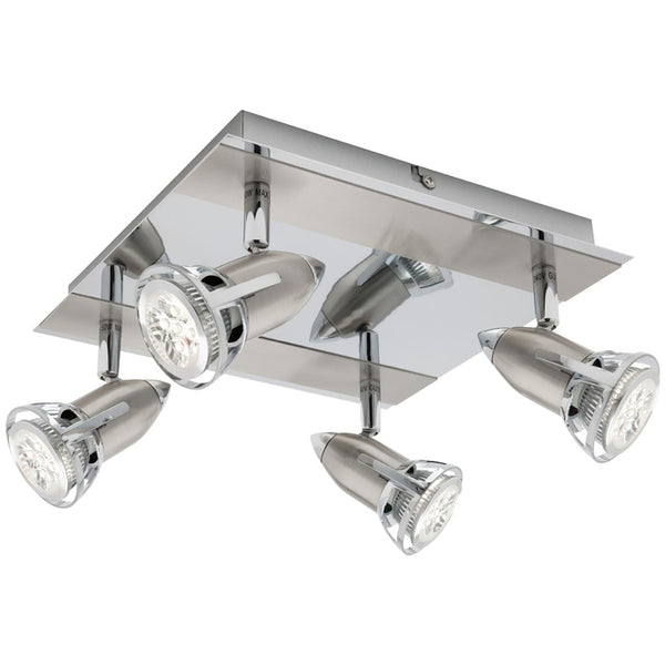Oberon 4 Light Square Spotlight - Industrial Lighting Studio