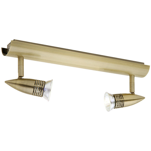 Proton 2 Light Rail Spotlight - Antique Brass - Industrial Lighting Studio