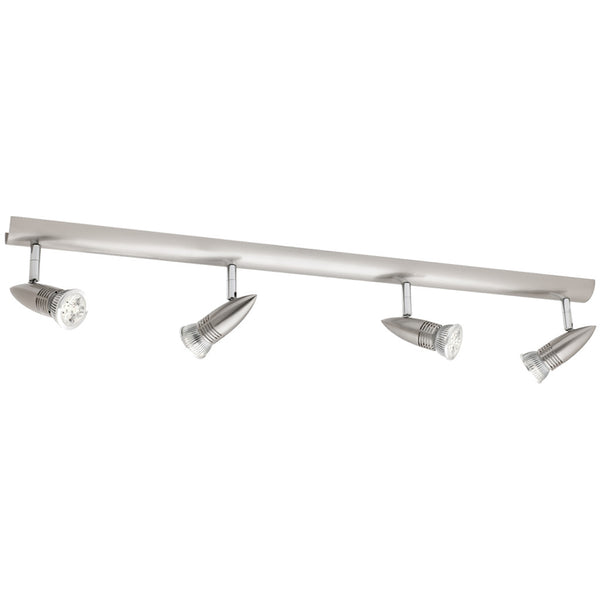 Proton 4 Light Rail Spotlight - Satin Chrome - Industrial Lighting Studio