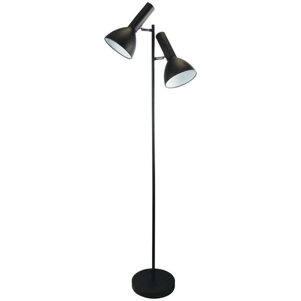 Vespa Twin Floor Lamp - Black - Industrial Lighting Studio