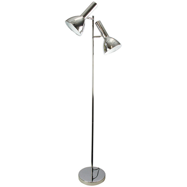 Old School Twin Floor Lamp - Chrome - Industrial Lighting Studio