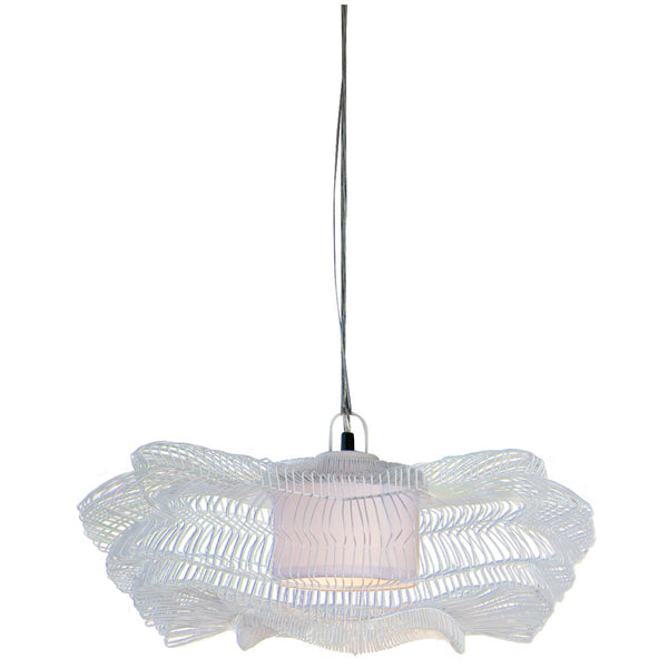 Sala Verde Small Origami Pendant - White - Industrial Lighting Studio