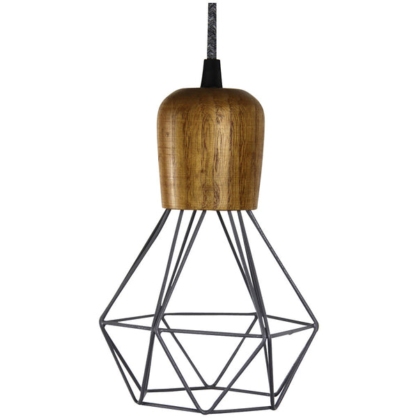 Woodsman Pendant - Grey - Industrial Lighting Studio - 1
