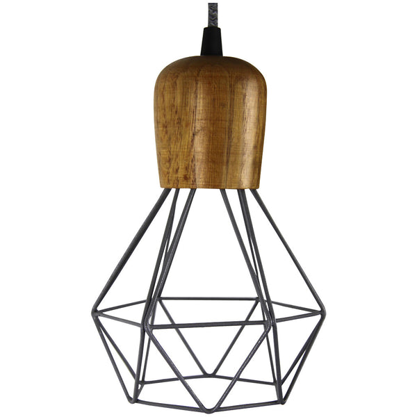 Woodsman Pendant - Grey - Industrial Lighting Studio - 2