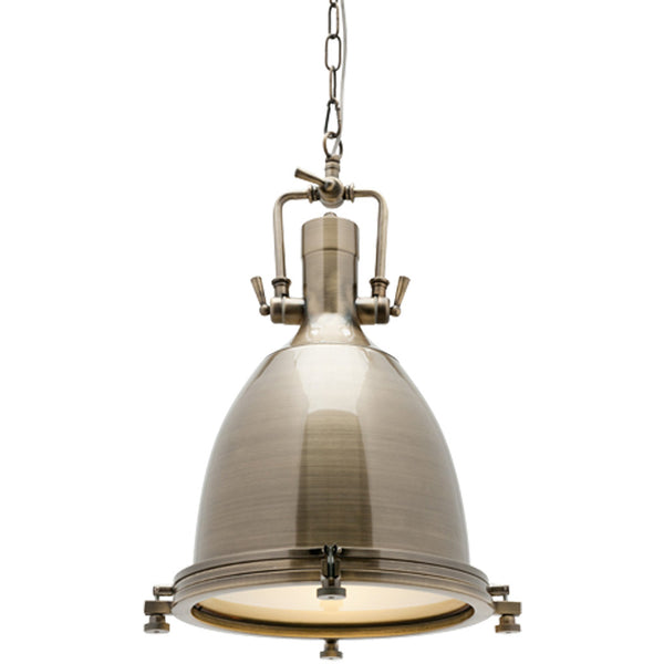 Nautical Pendant - Antique Brass - Industrial Lighting Studio