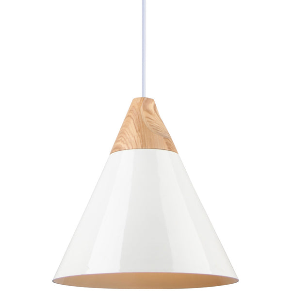 Elias Pendant Light - White - Industrial Lighting Studio