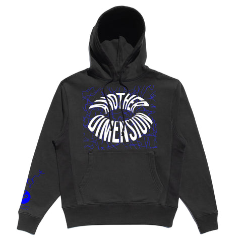 ANOTHER DIMENSION HOODIE - BLACK