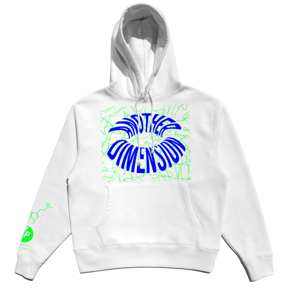ANOTHER DIMENSION HOODIE - WHITE