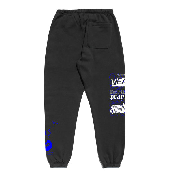ANOTHER DIMENSION SWEATPANTS - BLACK