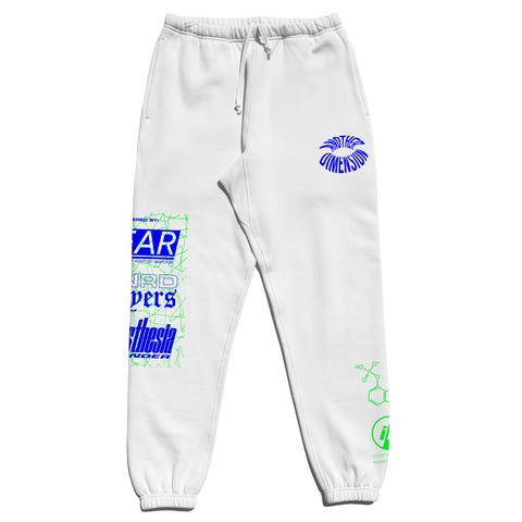 ANOTHER DIMENSION SWEATPANTS - WHITE