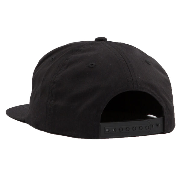 ALUMNI 5 PANEL SNAP BACK - BLACK