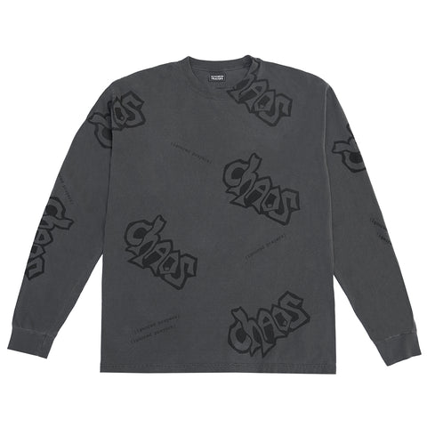 CHAOS L/S T-SHIRT - PEPPER