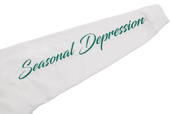 SEASONAL DEPRESSION L/S TEE  - WHITE