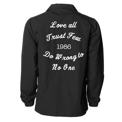LOVE ALL COACHES JACKET - BLACK